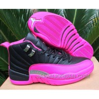2018 Air Jordan 12 GS Black Pink Shoes Super Deals