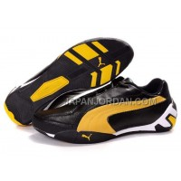 割引販売 Mens Puma Tour Cat Lo L Black Yellow White