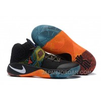 "Nike Kyrie 2 ""BHM"" Black/Multi-Color/Multi-Color Free Shipping"
