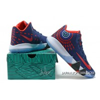 Nike Kyrie 4 Mens Basketball Shoes Blue Red New Style