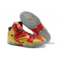 "Nike LeBron 11 ""Ring Ceremony"" PE Sport Red/Metallic Gold-Black For Sale Cheap To Buy"