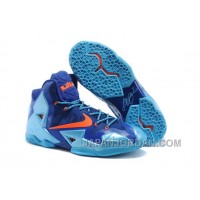 "Nike LeBron 11 ""World Champion"" Royal Blue/Gamma Blue-Orange For Sale"