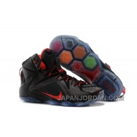 Nike LeBron 12 Black/Red For Sale Free Shipping