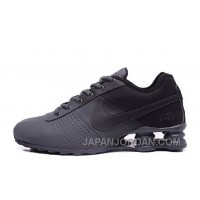 NIKE SHOX DELIVER ALL BLACK 2016 NEW Online