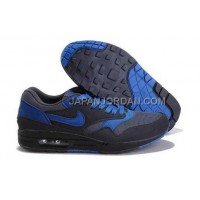 Nike Air Max 1 87 Mens Black Blue 送料無料