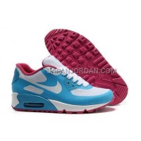 Nike Air Max 90 Hyperfuse Prm Womens Blue White Red 新着