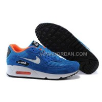 Nike Air Max 90 Mens Blue White 本物の