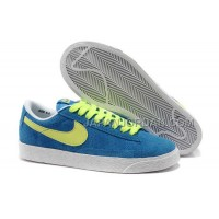 ホット販売 Nike Blazer 2013 Gypsophila Low Womens Blue Green Shoes