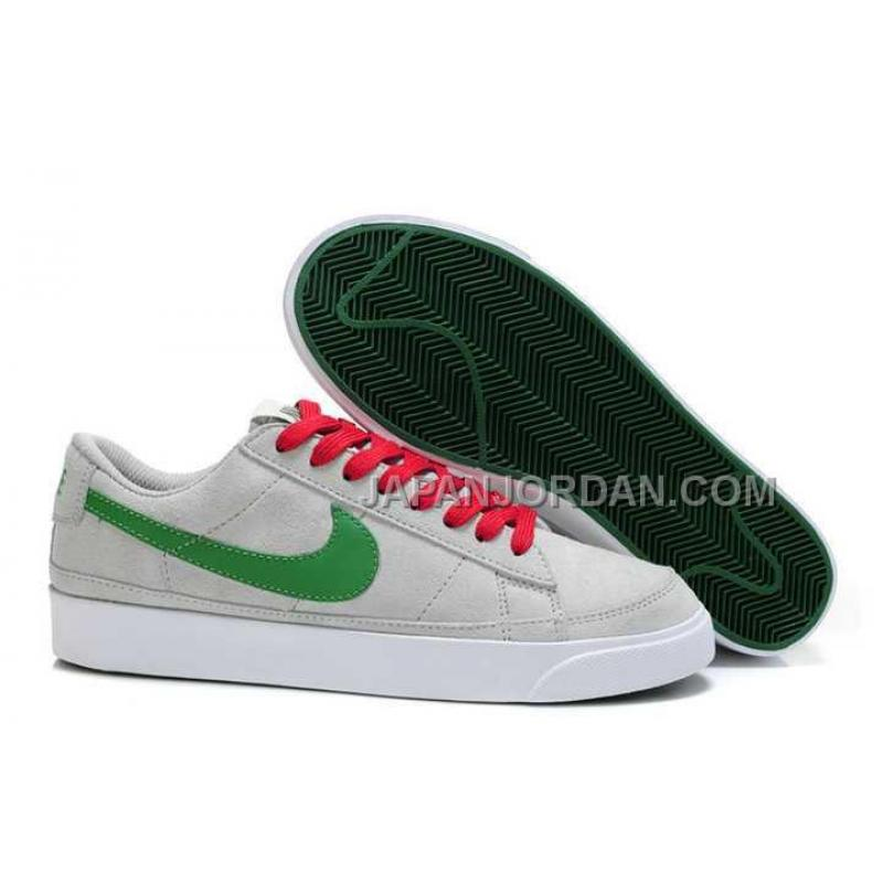 huge discount a2dc0 1d04c 本物の Nike Blazer Low ND Mens Grey Green Shoes ...