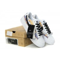 Nike Blazer Low Womens White Yellow Blue Shoes 割引販売