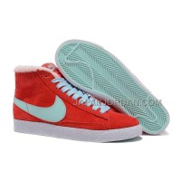 Nike Blazer Mid Vintage Suede Wool Womens Gym Red Light Blue Shoes 割引販売
