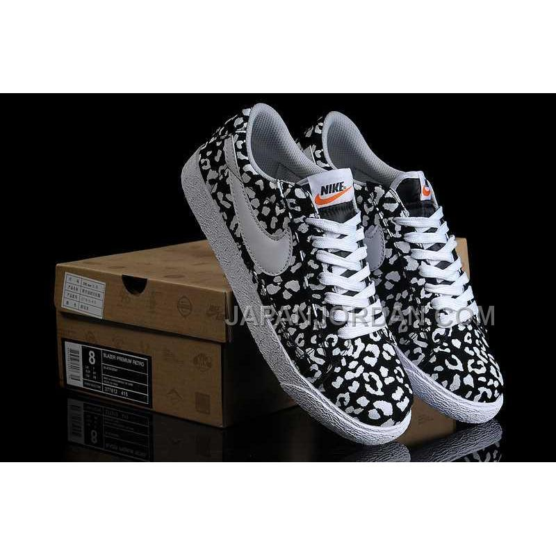 nike blazer print low womens in black white leopard shoes