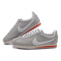 Nike Cortez Leather Men Shoes Gray White Red 割引販売