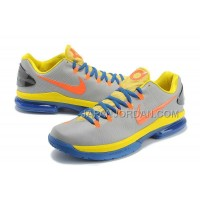 Nike KD V Elite Mens Gray Yellow Blue 本物の
