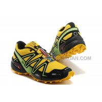 ホット販売 Salomon Speedcross 3 CS Mens Yellow Black Gray
