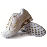 Men's Nike Shox Monster Shoes White/Yellow Discount