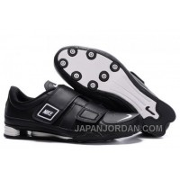 Men's Nike Shox R3 Shoes Black/White Discount