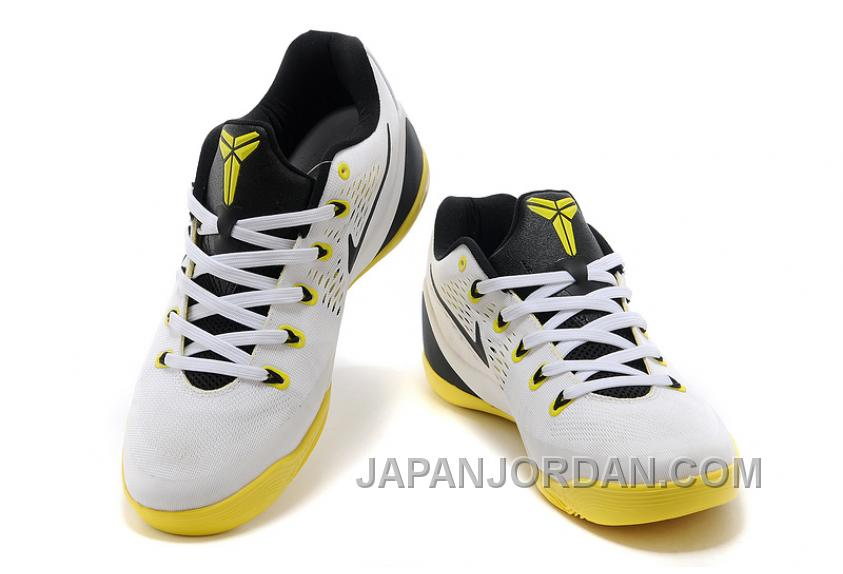 0946c7acb20d Nike Kobe 9 Low EM White Black Yellow For Sale Free Shipping