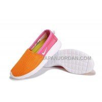 2014 Nike Roshe Run Slip On Womens Orange Shoes ホット販売