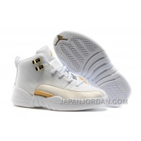 "2018 Kids Air Jordan 12 ""OVO White"" Super Deals"