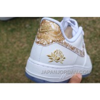 Air Force 1 Chinese New Year White Gold Peony Free Shipping