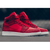 "2018 Air Jordan 1 High ""Red Elephant Print"" Lastest"