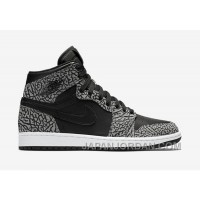 "2018 Air Jordan 1 High ""Un-Supreme"" Black/Cement-White-Varsity Red For Sale"