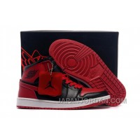 New Air Jordan 1 High Chicago Bulls Black/Varsity Red Super Deals
