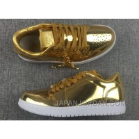 New Air Jordan 1 Low Pinnacle Metallic Gold 2018 For Sale Discount