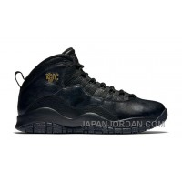 "2018 Air Jordan 10 ""NYC"" Black/Black-Dark Grey-Metallic Gold Authentic"
