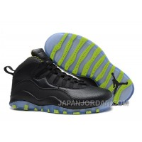 New Air Jordan 10 Retro Black-Grey/Venom Green Top Deals