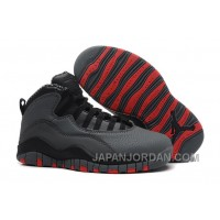 New Air Jordan 10 Retro Cool Grey/Infrared-Black Free Shipping
