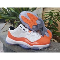 new product 9fb93 60e19 Latest Air Jordan 11 Low White Black-Orange Trance