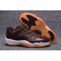 "2018 Air Jordan 11 Low ""Brown Gum"" Chocolate Cheap To Buy"