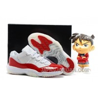 2018 Air Jordan 11 Low White Varsity Red Super Deals