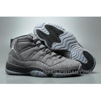 2018 Air Jordan 11 Wool Grey Black Top Deals