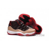 2018 Air Jordan 11 Brown Black Red Free Shipping