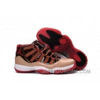 2018 Air Jordan 11 Brown Red Black Cheap To Buy
