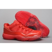 New Air Jordan 11 Low All Red PE Shoes For Sale