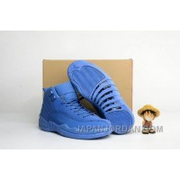 "2018 Air Jordan 12 ""Blue Suede"" For Sale"