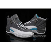 2018 Air Jordan 12 Wolf Grey/University Blue-White Cheap To Buy