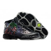 "2018 Air Jordan 13 ""Avengers"" Custom Black Print New Release"