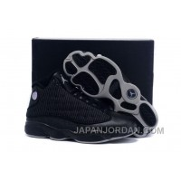 New Air Jordan 13 All Black Grey Discount