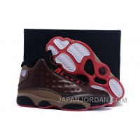 Air Jordan 13 Cigar Custom By Damien Brown Black Red New Release
