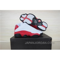 Air Jordan 13 Low White/Black-Varsity Red Shoes New Release