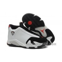 "2018 Air Jordan 14 ""Black Toe"" White/Black-Varsity Red-Metallic Silver Discount"