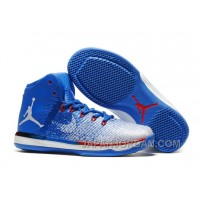 "2018 Air Jordan XXXI ""Olympics"" USA Deep Royal Blue White University Red Online"