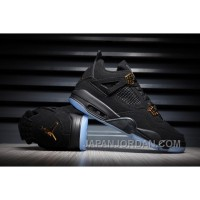 2018 Air Jordan 4 Black/Gold Glow Lastest