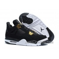 "2018 Air Jordan 4 ""Royalty"" Black/Metallic Gold-White Online"