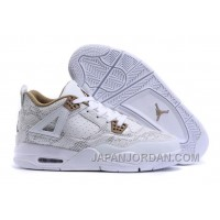 "2018 Air Jordan 4 Pinnacle ""Snakeskin"" Free Shipping"